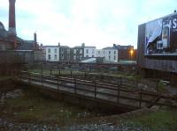The old turntable near Dublin's Pearse station, photographed in fading light on 19 January 2014.<br><br>[John Steven&nbsp;19/01/2014]