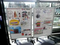 Haymarket Art Project. Display at Haymarket station on 12 March by pupils of Dalry Primary School. <br><br>[John Yellowlees&nbsp;12/03/2014]
