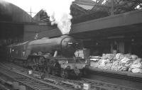 Heaton A3 no 60051 <I>Blink Bonny</I> stands at Newcastle Central on 6 October 1962. The Pacific is about to take out the 10am York - Edinburgh Waverley.<br><br>[K A Gray&nbsp;06/10/1962]