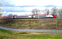A southbound Pendolino at speed near Blisworth, Northants, on 4 March 2014.<br><br>[John Steven&nbsp;04/03/2014]