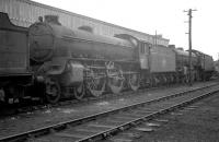 A trio of B1s stored alongside Bathgate shed in March 1964. Centre stage is no 61356, officially withdrawn from St Margarets some four months after this photograph was taken and cut up at Darlington works the following October.<br><br>[K A Gray&nbsp;/03/1964]