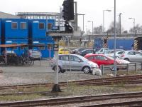 View from the south end of Derby station towards Etches Park depot on 20 March. A class 08 shunter is stabled on the depot against a barrier vehicle, and a class 37 is stabled beyond the running lines in storage sidings for the RVEL maintenance facility at the former RTC site.<br><br>[David Pesterfield&nbsp;20/03/2014]