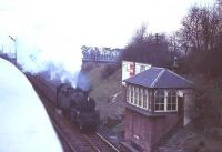 80046 arriving at Clarkston in April 1966 with the 5.08pm from St Enoch.<br><br>[G W Robin /04/1966]