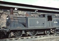 Ex-Caledonian 0-4-4T 55206 stored at Corkerhill shed in July 1961.<br><br>[John Robin&nbsp;/07/1961]
