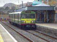Dart 8306 awaits departure for Dublin at Howth on 21 March 2014.<br><br>[Bill Roberton&nbsp;21/03/2014]