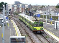 A DART emu takes the Howth branch at Howth Junction on 21 March 2014.<br><br>[Bill Roberton&nbsp;21/03/2014]