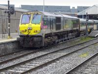 Irish Rail 201 class 233 <I>River Clare</I> propels the 08.00 'Enterprise' from Belfast into Dublin Connolly on 22 March 2014.<br><br>[Bill Roberton&nbsp;22/03/2014]