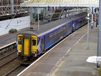 156509 departs Ayr on 1 April with the 17.04 Kilmarnock - Stranraer.<br><br>[Bill Roberton&nbsp;01/04/2014]