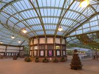 The concourse at Wemyss Bay on the evening of 2 April 2014.<br><br>[Bill Roberton&nbsp;02/04/2014]