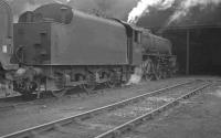 Black 5 no 45179 photographed on Carlisle Kingmoor shed in April 1962.<br><br>[K A Gray&nbsp;19/04/1962]