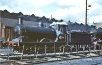 J36 0-6-0 no 65296 stands on Eastfield shed in July 1961.<br><br>[John Robin&nbsp;/07/1961]
