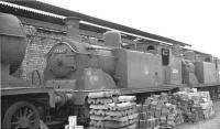 CR McIntosh 2P 0-4-4T no 55266 stored on Corkerhill shed in 1962. The locomotive had been officially withdrawn from here in September 1961. [See image 23423]  <br><br>[David Stewart&nbsp;//1962]