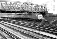 An unidentified class 47 accelerates out of Paddington in January 1982 with a South Wales train.<br><br>[John Furnevel&nbsp;22/01/1982]