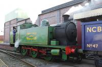Chasewater Railway No 4 (RSH 0-6-0T 7684 of 1951) at Brownhills West on 29 March 2014.<br><br>[Peter Todd&nbsp;29/03/2014]