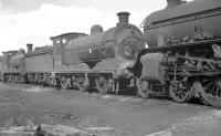 J35 0-6-0 no 64514 in the shed yard at Parkhead on 3 April 1961.<br><br>[K A Gray&nbsp;03/04/1961]