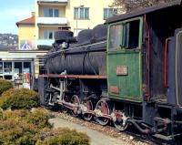 On a plinth outside the admin buildings of the ZRS in Doboj, northern Bosnia, is this Czech built 760mm gauge 0-10-0 numbered 1937. The choice of loco is curious as it had been built for and worked on the Steinbeisbahn, an extensive NG system in western Bosnia.<br><br>[Bill Jamieson&nbsp;15/03/2014]