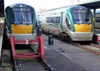 Class 22000 dmus stabled at Heuston Station, Dublin, on 23 March 2014.<br><br>[Bill Roberton&nbsp;23/03/2014]