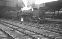 A summer Saturday relief Kilmarnock - Blackpool North service about to leave Carlisle on 29 July 1967. Kingmoor's Britannia Pacific no 70012 <I>John of Gaunt</I> has recently taken over the train for the journey south.<br><br>[K A Gray&nbsp;29/07/1967]