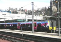 TransPennine 350406 stands at Waverley on 24 April 2014 prior to working the 1812 to Manchester Airport.<br><br>[John Yellowlees&nbsp;24/04/2014]