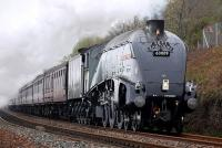 60009 <I>Union of South Africa</I> climbs to Pettycur, between Burntisland and Kinghorn, with the first <I>Forth Circle</I> on 27 April.<br><br>[Bill Roberton&nbsp;27/04/2014]