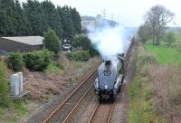 The SRPS Forth Circle railtour approaches Crossgates during the morning running of Sunday, 27 April, 2014, behind 60009 <I>Union of South Africa</I>.<br><br>[Andy Carr&nbsp;27/04/2014]