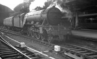 Leeds (Neville Hill) based A3 Pacific no 60081 <I>Shotover</I> stands at Newcastle Central on 25 August 1962, shortly after bringing in the 11.30am train from Manchester Exchange.<br><br>[K A Gray&nbsp;25/08/1962]