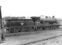 Inverness based Pickersgill 4-4-0 no 54495 on shed at Wick in September 1961. <br><br>[David Stewart&nbsp;08/09/1961]