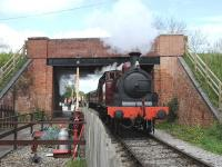Metropolitan No 1 with a departure from Blunsdon station on 26 April 2014.<br><br>[Peter Todd&nbsp;26/04/2014]