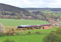 A4 Pacific No. 60009 <I>Union of South Africa</I> has just crossed the River Spey at Boat o' Brig, between Keith and Elgin, on 1 May 2014 with the <I>Great Britain VII</I> (train A) on its way to Inverness.<br><br>[John Gray&nbsp;01/05/2014]