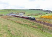 60009 <I>Union of South Africa</I> runs north through Carmont on 1 May 2014 bound for Aberdeen with the <I>Great Britain VII</I>.<br><br>[John Gray&nbsp;01/05/2014]