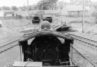 Looking towards the turntable at Wick shed on 8 September 1961 from the tender of Caley Bogie 54495, a visitor from Inverness. [See image 45646] <br><br>[David Stewart&nbsp;08/09/1961]