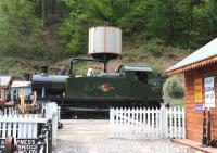 Scene at Norchard in the Forest of Dean on 5 May 2014, with GWR 2-6-2T 5541 taking on water.<br><br>[Peter Todd&nbsp;05/05/2014]