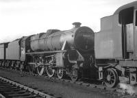 Black 5 no 44669 in the yard at Carlisle Kingmoor shed on 15 May 1964.<br><br>[K A Gray&nbsp;15/05/1964]