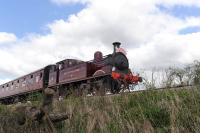 Metropolitan No 1 in action on the Swindon and Cricklade Railway in April 2014.<br><br>[Peter Todd&nbsp;19/04/2014]