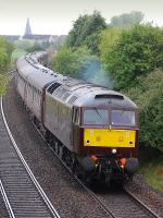 WCRC 47746 climbs away from Dysart with <I>The Cathedrals Express</I> from Appleby to Inverness on 10 May 2014. The diesel locomotive hauled the train as far as Thornton where 44871+45407 took over. <br><br>[Bill Roberton&nbsp;10/05/2014]