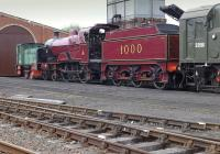 Midland Compound 1000 in the shed yard at Bo'ness on 11 May 2014. <br><br>[Bill Roberton&nbsp;11/05/2014]