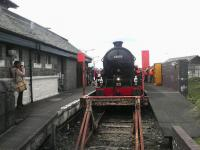 The first <I>Jacobite</I> of the 2014 season stands at Mallaig on 12 May behind 62005.<br><br>[John Yellowlees&nbsp;12/05/2014]