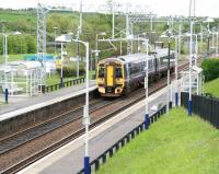 A 158 pulls away from Greenfaulds on 8 May with the 11.12 Cumbernauld - Motherwell service.<br><br>[John Furnevel&nbsp;08/05/2014]