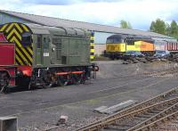 Resident shunter D3558 with Colas 56094 taking a weekend break at Bo'ness on 11 May.<br><br>[Bill Roberton&nbsp;11/05/2014]