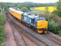 DRS 37419 passes Inverkeithing East Junction with an Inverness - Craigentinny test train on 15 May.<br><br>[Bill Roberton&nbsp;15/05/2014]