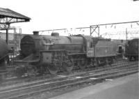 Crab 2-6-0 no 42934 photographed at Crewe station in the summer of 1960.<br><br>[David Stewart&nbsp;01/08/1960]