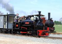 Hunslet 0-4-0ST <I>Sybil Mary</I> (HE 921 of 1906) in action at Statfold on 29 March.<br><br>[Peter Todd&nbsp;29/03/2014]