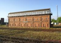 Shrewsbury Severn Bridge Junction signalbox seen on a beautiful early May morning in 2014.<br><br>[John McIntyre&nbsp;10/05/2014]