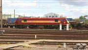 Stabled in Wembley Yard awaiting its next turn on 10 May 2014 is DBS 90028.<br><br>[John McIntyre&nbsp;10/05/2014]
