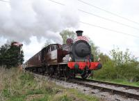 Metropolitan No 1 with a Swindon and Cricklade Railway special near Blunsdon on 19 April. <br><br>[Peter Todd&nbsp;19/04/2014]