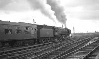 Britannia Pacific no 70023 <I>Venus</I> leaves Carlisle for the south on 1 July 1967 after taking charge of the 9.13am Summer Saturday Dundee - Blackpool North.<br><br>[K A Gray&nbsp;01/07/1967]