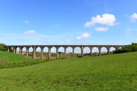 Built as part of the Ayr and Dalmellington Railway, this viaduct now only carries the railway from Dalrymple Junction to Chalmerston Opencast Mine for coal trains. The line is still open but has not seen traffic for some time.<br><br>[John Gray&nbsp;29/04/2014]