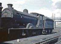 Ex-NBR (BR class D34) 4-4-0 no 62496 <I>Glen Loy</I> stands in the shed yard at Eastfield in the summer of 1961, approximately 4 months before withdrawal by BR.<br><br>[John Robin&nbsp;/07/1961]