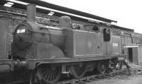 Caley McIntosh 0-4-4T 55206 awaiting its fate in the sidings alongside Corkerhill shed in 1961. Officially withdrawn in September that year, it was finally cut up at Connels of Coatbridge two years later. <br><br>[David Stewart&nbsp;//1961]
