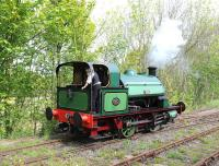<I>No 2</I> an 0-4-0ST (Hawthorn Leslie 2859 of 1911) working passenger trains on the Tanfield Railway on 18 May.<br><br>[Peter Todd&nbsp;18/05/2014]